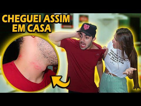 CHEGUEI COM MARCAS DE BATOM EM CASA!! *veja A Reação Dela*