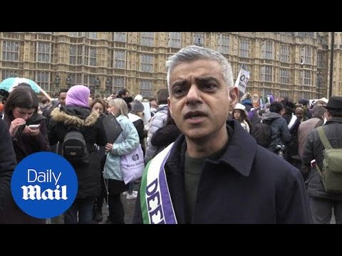 Sadiq Khan says he is 'a feminist' at March4Women rally in London - Daily Mail
