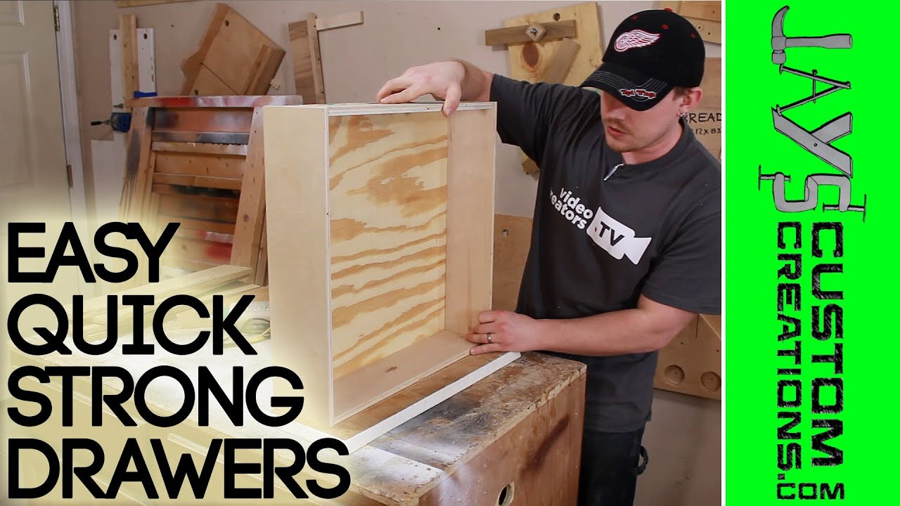 Kitchen Cabinet Making Plans Strong Quick Drawer Construction 126 Youtube