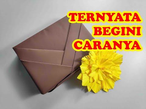 DIY - Paper Bag | Cara membuat paper bag dari kertas kado.