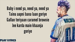 I Need Ya (song lyrics)| Sukhe | Ft. Krystle D'souza | Jaani | B Praak | Arvindr Khaira