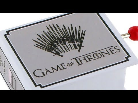 Sale of a Game of Thrones music box with the music of the main theme