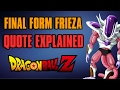 Frieza's Final Form EXPLAINED