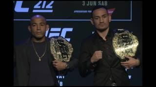 UFC 212: Press Conference Faceoffs