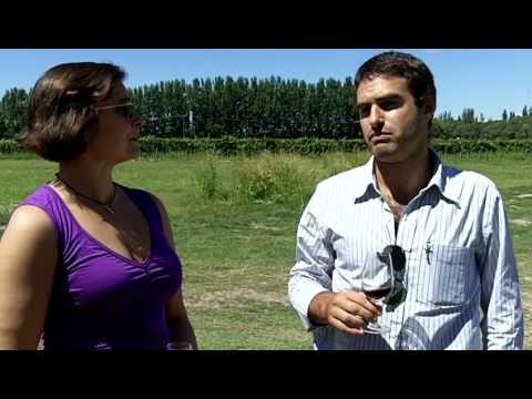 Alex Elman and Pablo at the Organic Wine Farm