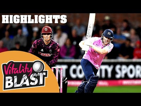 Somerset v Middlesex | Morgan Hits 83* in RECORD Chase | Vitality Blast 2019 - Highlights