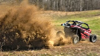 DESTROYING a Field Can Am Maverick X3 Turbo Style SHREDDY!