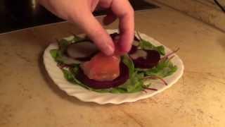 Салаты из отварной свеклы. Часть 1. Салат из свеклы с козьим сыром