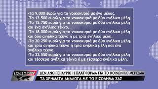 Κοινωνικό μέρισμα 2018: Δεν ανοίγει την Τρίτη η πλατφόρμα koinonikomerisma.gr