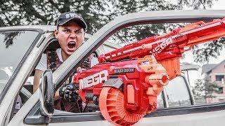 LTT Nerf War : SEAL X Warriors Nerf Guns Fight Criminal Group Madam Danger