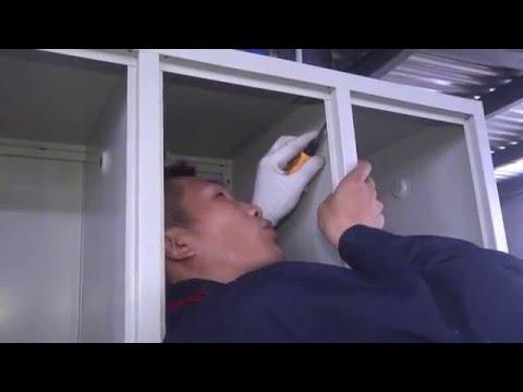 Installation  video of six door locker CC-C6 - BIZOE Office Furniture
