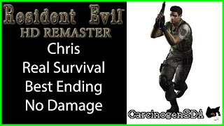 Resident Evil HD Remaster (PC) No Save No Damage - Chris Real Survival Best Ending (1:46:43)