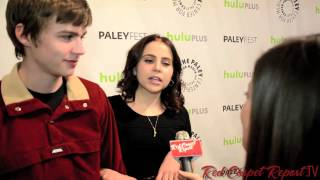 Mae Whitman & Miles Heizer at #PaleyFest for Evening w/ NBC's Parenthood @MaeWingbird @milesdheizer