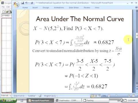 compare the area under normal and standard normal curve