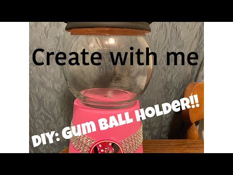 DIY Birthday Decor! | Minnie Mouse Gum Ball Holder |
