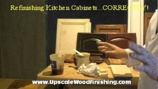 Refinsh Kitchen Cabinets Correctly!