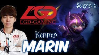 LGD MaRin KENNEN Top vs Fiora - Patch 6.1 KR | League of Legends