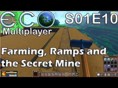 Let's Play Eco | S01E10 Solo | Farming, Ramps, and the Secret Mine