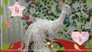 Diy  Pavão Branco com linha de Crochê  Tutorial Completo  Peacock