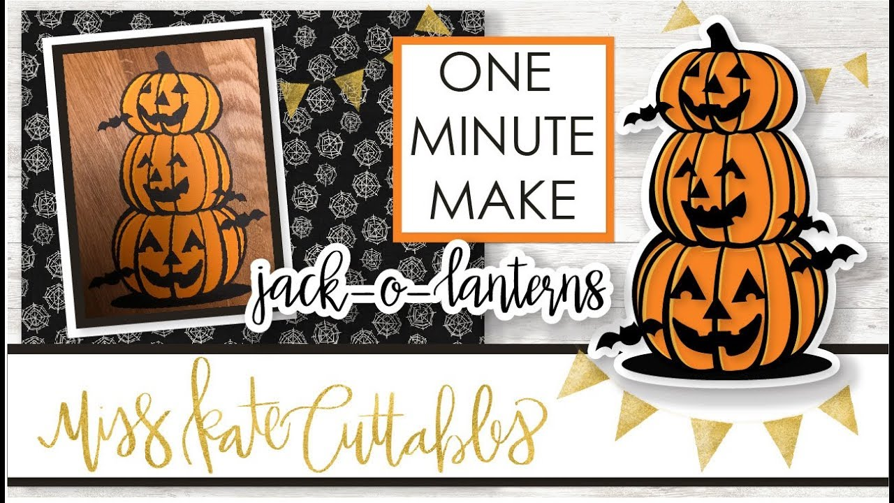 one minute make - stacked jack-o-lanterns how to halloween diy