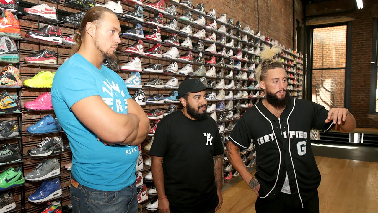 See what a  30K pair of sneakers looks like  Enzo   Cass  SummerSlam  Homecoming 29cd4b9ea