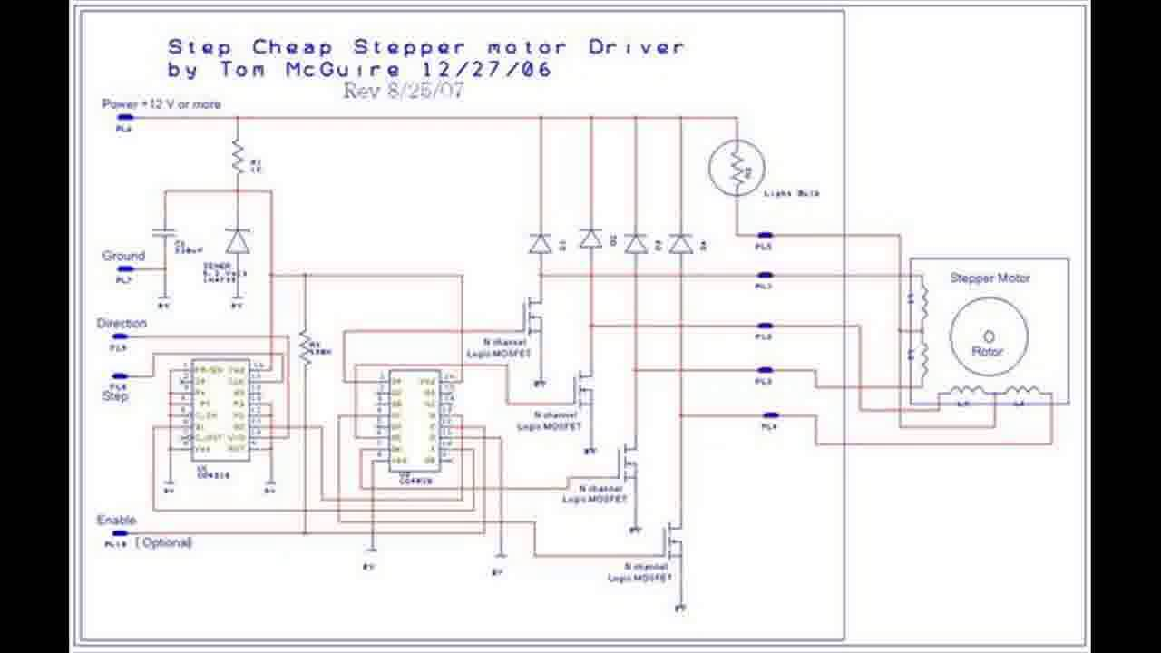 cnc stepper motor wiring diagram for [ 1280 x 720 Pixel ]