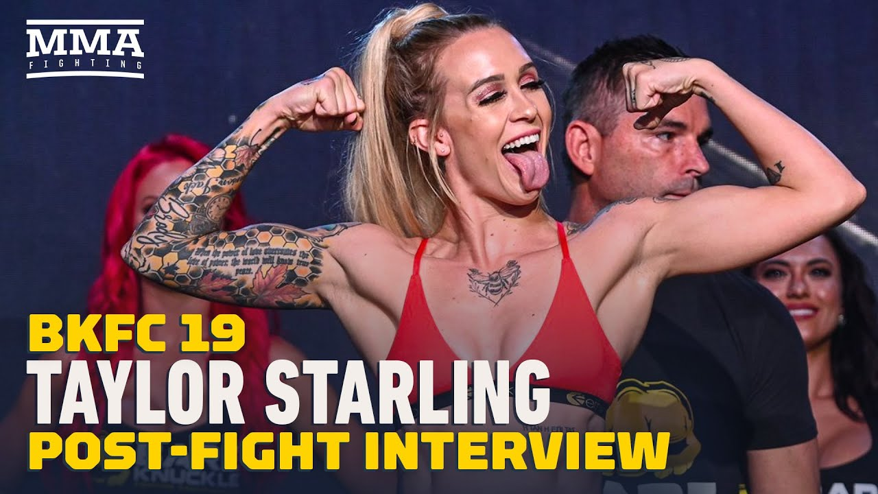 Taylor Starling Reacts To 28-Second KO Win, Eyes Title Opportunity   BKFC 19   MMA Fighting