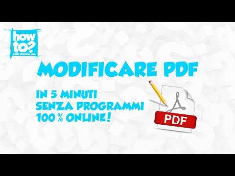 Come modificare file PDF in 5 minuti, GRATIS e senza programmi