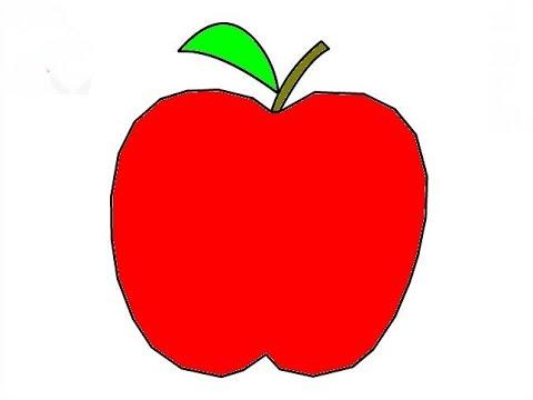 Dessin et coloriage pomme youtube - Dessin pomme a colorier ...