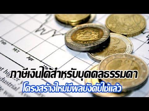 อัตราภาษีเงินได้บุคคลธรรมดา 2558