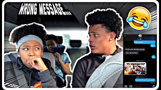 I SENT MY OLDER BROTHER THE WRONG TEXT MESSAGE... *HILARIOUS PRANK*