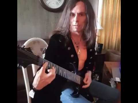 practicing a Jason Becker tune that I love with my own creative guitar lines over his music