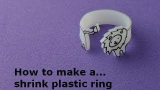 How To: Make a Shrink Plastic Ring: DIY(Learn how to make a shrink plastic ring with The Bead Shop Nottingham! Buy your shrink plastic tools and equipment at ..., 2013-09-17T15:20:31.000Z)