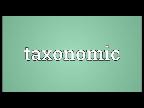 Taxonomic Meaning