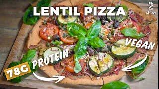 High Protein Lentil Pizza - Vegan & Gluten-Free - 78g Protein