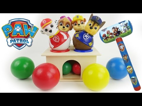 Toy Gum ball maze games Paw Patrol learn colors for babies toddlers best learning videos count 123