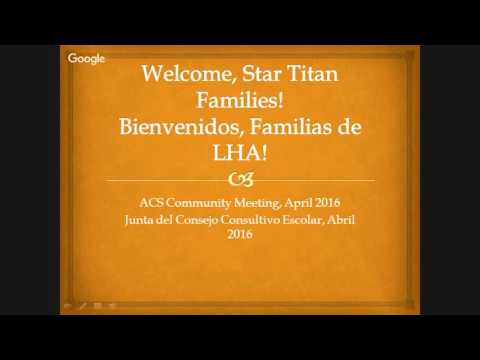 Aspire Langston Hughes Academy Star Family Meeting - April 2016
