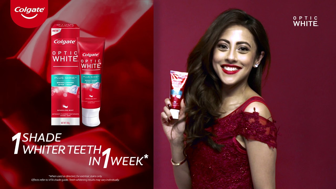 Colgate Optic White Youtube