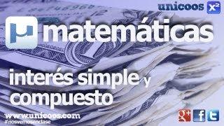 Interes Simple y Compuesto SECUNDARIA (3ºESO) matematicas