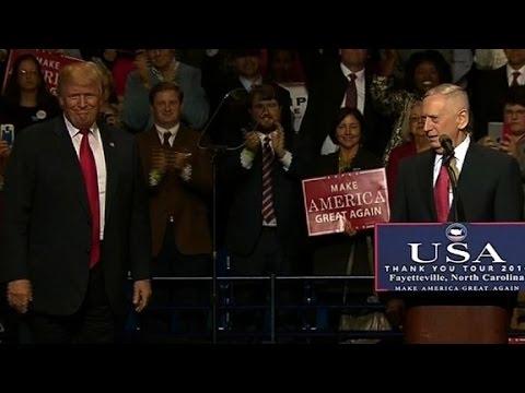 Trump introduces his pick for secretary of defense
