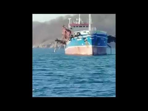 "В Находке взорвался танкер ""Залив Америка"".02.11.2019"