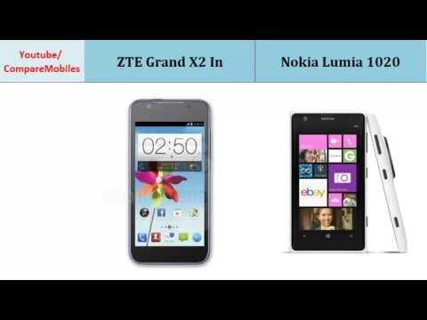 ZTE Grand X2 In VS Nokia Lumia 1020, Quick Full Specs Comparison