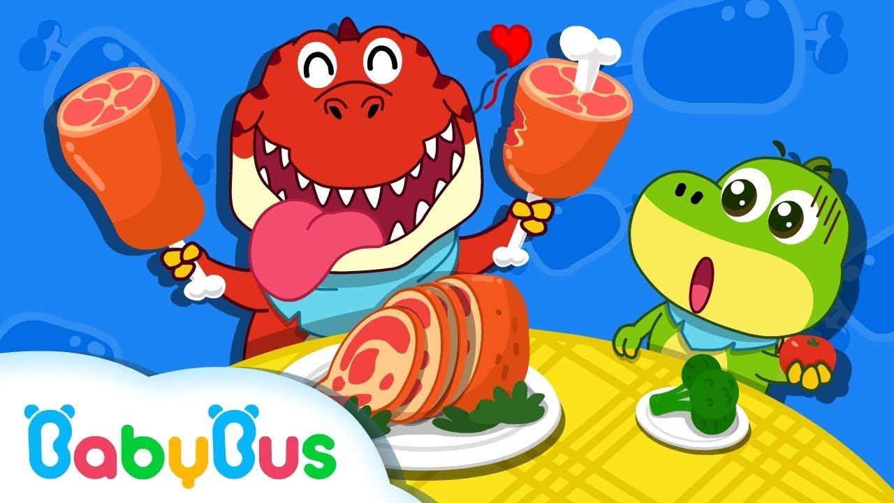 La Cena de Dinosaurio | Canciones Infantiles | Dinosaurios Para Niños | BabyBus Español