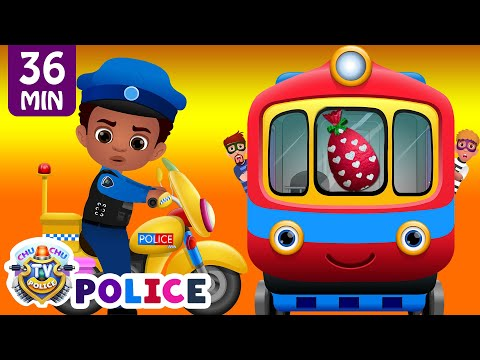 ChuChu TV Police Chase Thief in Police Car to Save Huge Surprise Egg Toys Gifts – The Train Escape