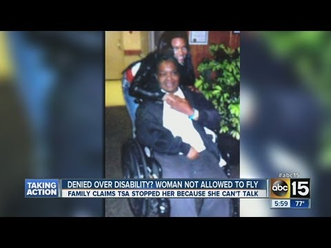 Woman denied flight because of disability?