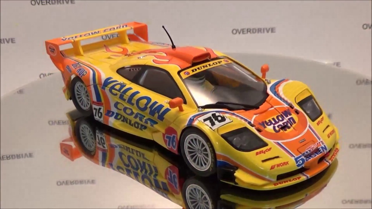 slot.it mclaren f1 gtr yellow corn analog / carrera digital 132