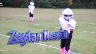 Zaylan at 9yrs old playing for Lewis Panthers Jersey #2 and #15.