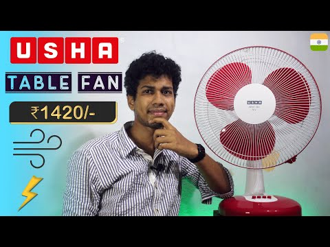 🔥🔥 Usha Mist Air Icy 400 mm 3 Blade Table Fan   Unboxing, Review Price   Best Table Fan @Dekh Review