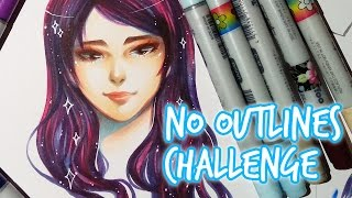 CHALLENGE ★ No Outlines Challenge ★ With COPIC
