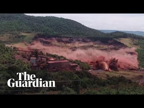 Terrifying Moment Of Brazil Dam Collapse Caught On Camera